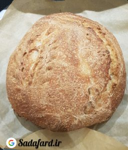 نان حجیم پخته شده با آرد جو