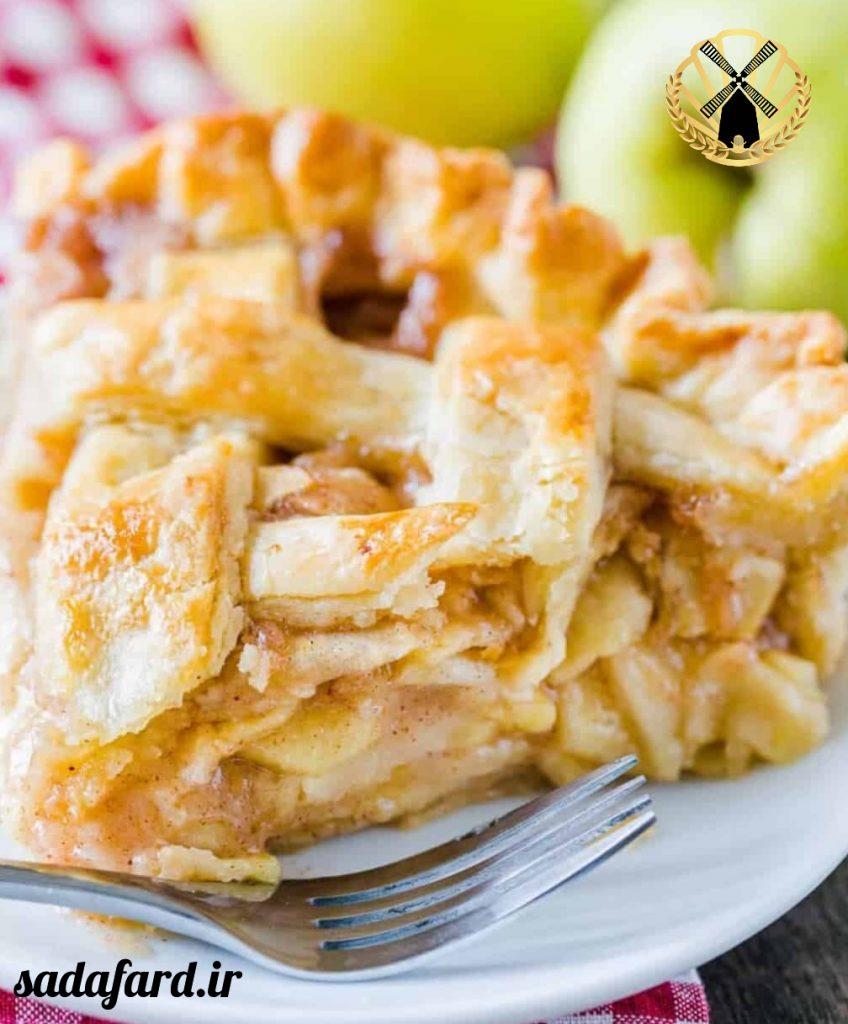 کیک پای سیب به همراه دستور پخت آن